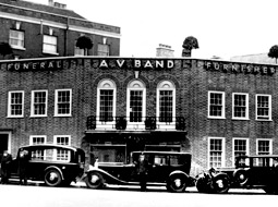An old photo of AV Band Funeral Directors