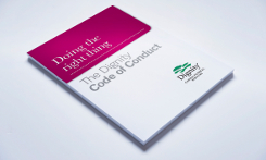 Image of a Dignity Code of Conduct book