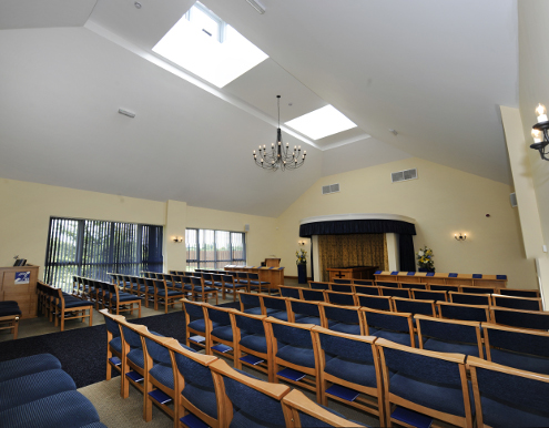 Internal view of Fenland Crematorium