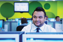 Image of a call centre worker.
