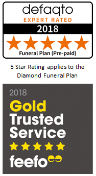 Feefo Gold Trusted Service Award 2018 Defaqto Star Rated Funeral Plans Dignity