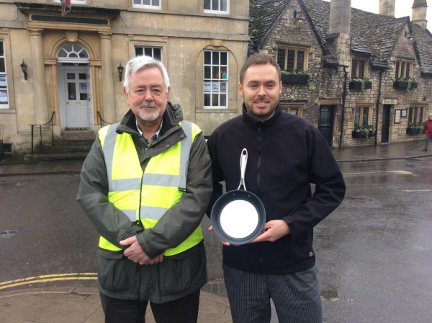 Harry brings home the double at annual Pancake Day Race