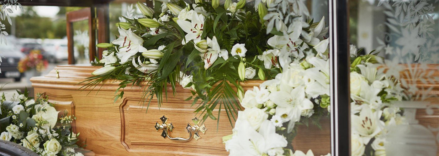 Funeral flowers and floral tributes large
